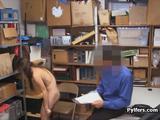 Titty teen burglar on LP officers dick
