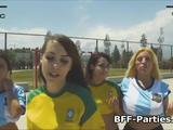 Soccer chicks fucking lucky coach