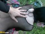 Tattooed Brunette Babe Gives Head And Pounds Cock In Public
