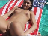 Kylie Sinner anal pounded by the pool for the first time