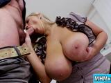 Busty babe Krystal Swift fucking with her boss in the office