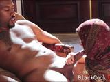 Arab babe Nadia Ali gets pussy fucked by huge black dick