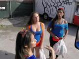 Sexy cheerleader Veronica Rodriguez gets banged by the truck driver