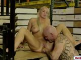 Busty babe London River getting fucked by her office mate